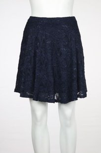 Aqua Womens Floral Lace Above Knee Skirt Navy
