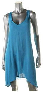 Aqua short dress on Tradesy