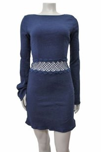 Aqua Navy Long Sleeve Dress
