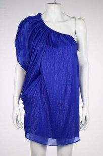 Aqua short dress Blue Womens Metallic on Tradesy