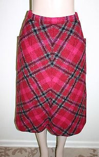 Aquascutum Vintage Pink Red Skirt Multi-Color