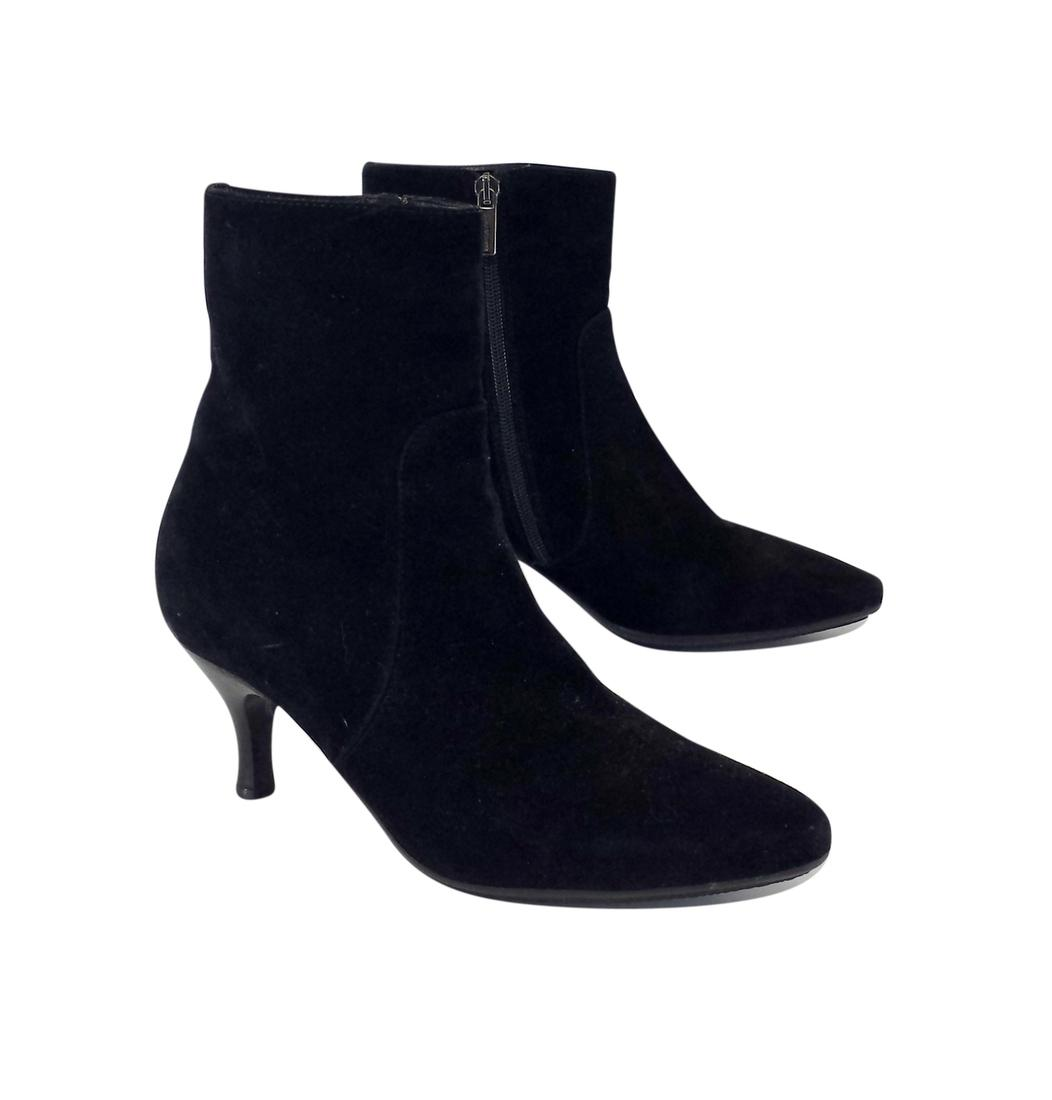 free shipping 2014 unisex factory outlet online Aquatalia Suede Pointed-Toe Booties discount amazon riGDG