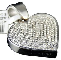 Arctica Stainless,Steel,Pave,Round,Cut,Diamond,Heart,Pendant,Chain,Arctica