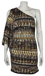 Arden B. Womens Black Body Con Printed One Above Knee Dress