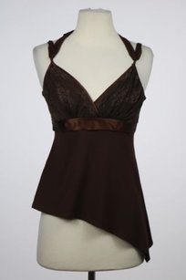 Arden B. B Womens Lace Top Brown