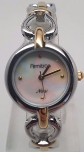 Armitron Armitron Ladies Gold And Silver Mop Dial Watch Needs Battery