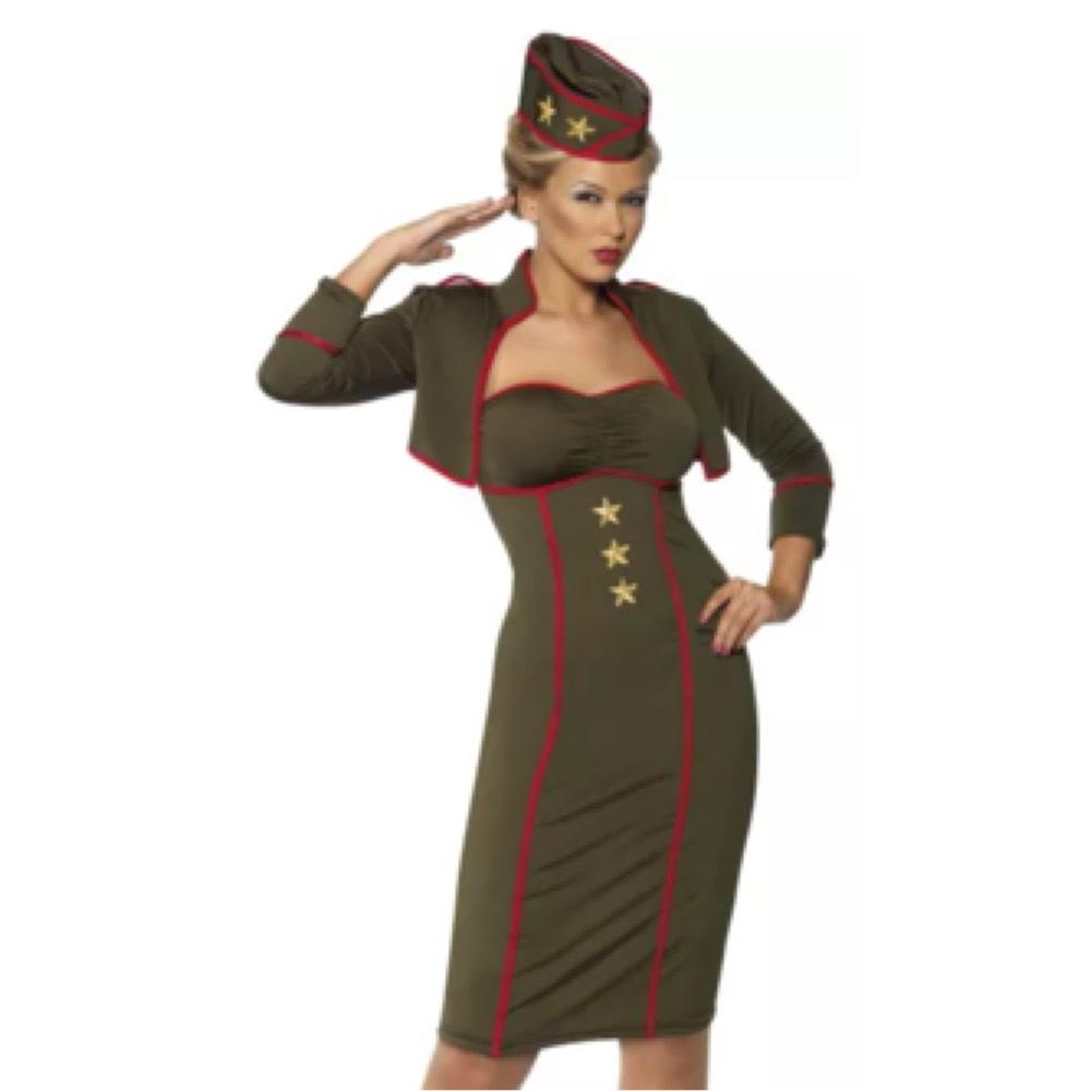 12345  sc 1 st  Tradesy & Army Green Sexy Military Uniform Pin-up Girl Costume Or Role Play ...