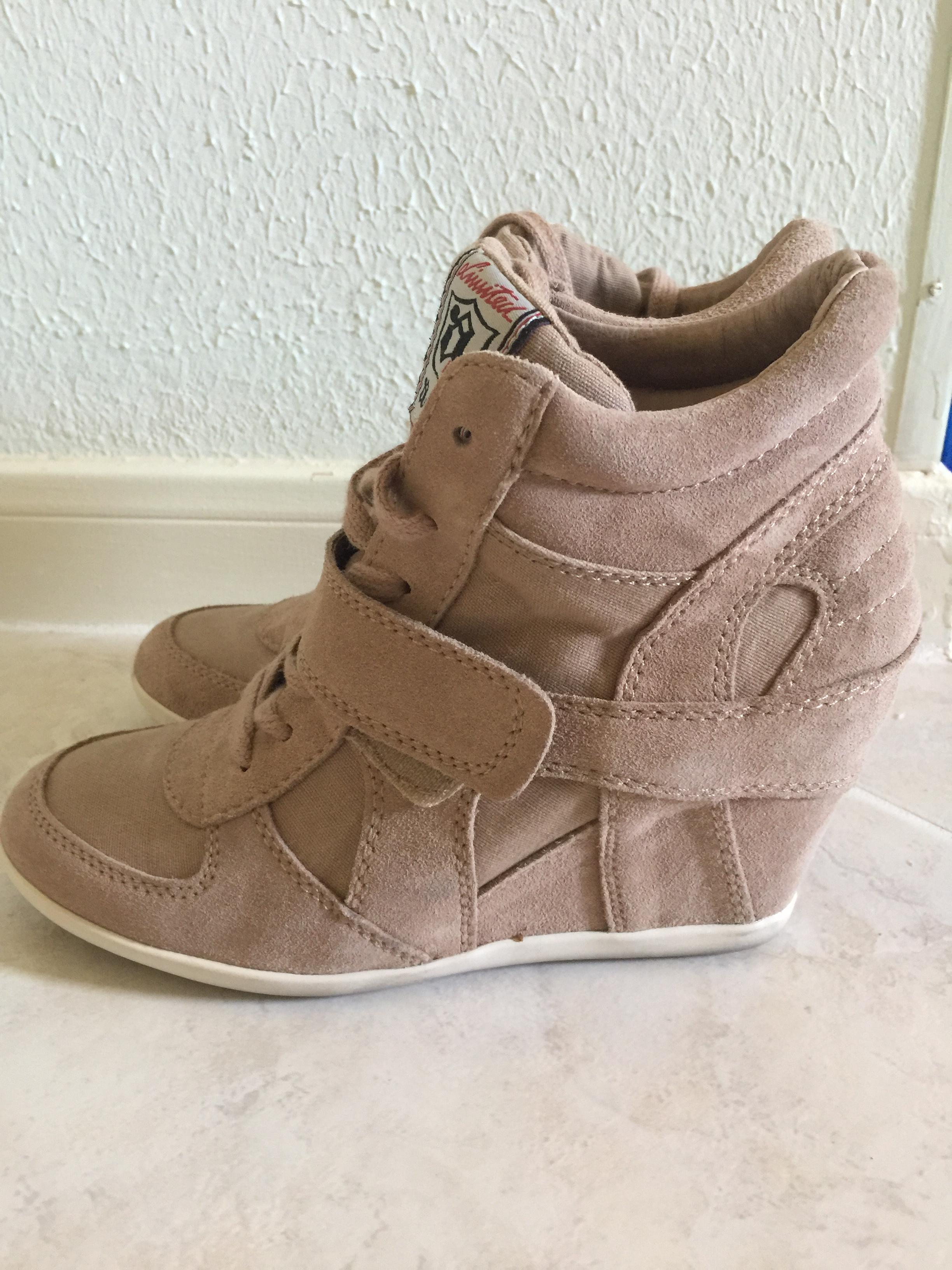 ash bowie wedge sneakers cocco beige athletic shoes on