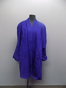 Ashley Scott Long Open Front Wool Lined Trench 11634a Trench Coat