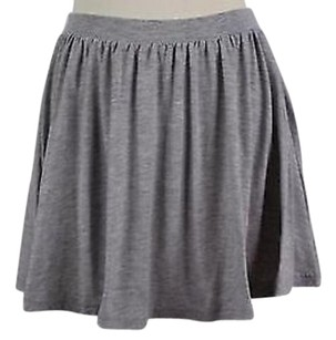 ASOS Womens Solid Above Knee Polyester Blend Skirt Gray