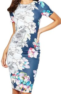 ASOS Pettite Floral Bodycon Midi Dress