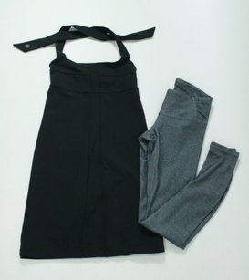 Athleta Athleta Lot Of Spandex Items Gray Legging Pant Black Halter Dress