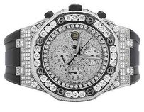 Audemars Piguet Mens Mm Audemars Piguet Royal Oak Offshore Rubber With 15.5 Ct Of Vs Diamond
