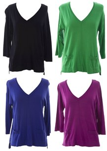 August Silk & Hoodies Womens Augustsilk_0716063_havsapphire_m Sweater