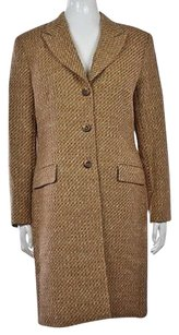 Austin Reed Womens Tweed Basic Wool Long Sleeve Casual Jacket Coat