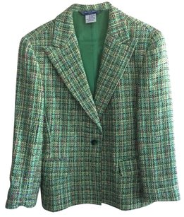 Austin Reed Tweed Vintage Green Blazer