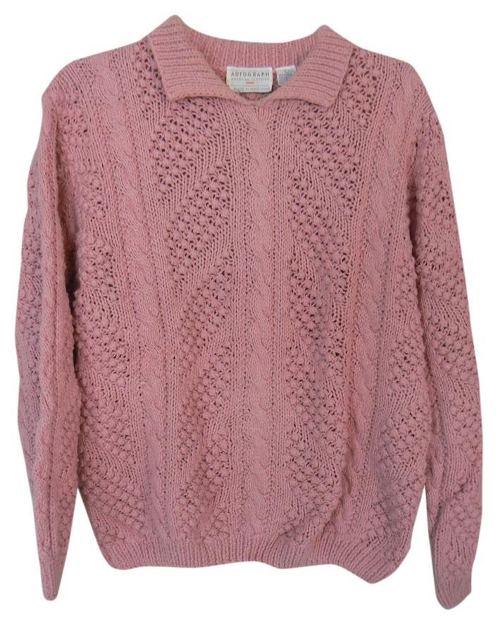 Autograph Pink Warm Cable-knit Sweater Size 12 (L) from Sondra ...