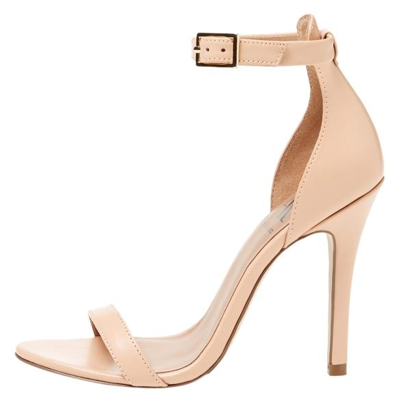 ava & aiden light peach pipa two-piece high heel sandal pumps size
