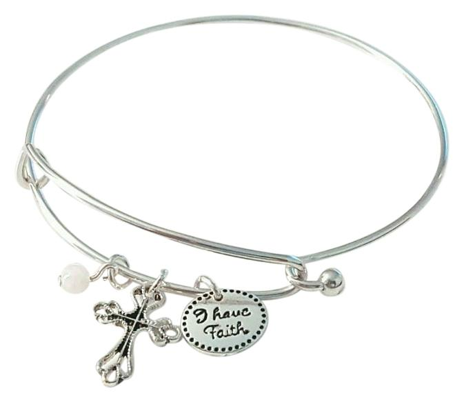 avon new precious charms inspirational faith silver wire