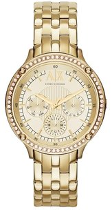 A|X Armani Exchange A|X Armani Exchange Watch, Women's Gold Ion-Plated Stainless Steel Bracelet