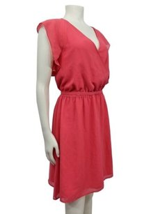 A|X Armani Exchange Ax Faux Wrap Ruffle Sleeve 0 Belted Dress