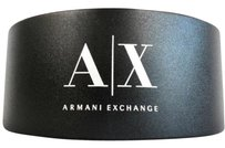 A|X Armani Exchange NEW! A/X ARMANI EXCHANGE BLACK HARD SUNGLASSES GLASSES CASE