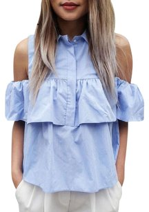 Azulina Top Light Blue