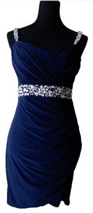 B. Darlin Rhinestone Strap Dress