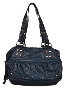 B. Makowsky B Womens Satchel in Blue