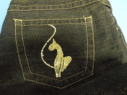 7bcb2ad3 Baby Phat Dark Rinse Cotton Blend Low Rise Casual Bootcut Jeans 4842a 85%OFF