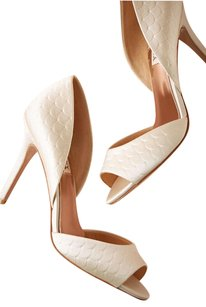 Bhldn Badgley Mischka Scallop D'osay Dress Wedding Shoe Pump Heels 9 Wedding Shoes