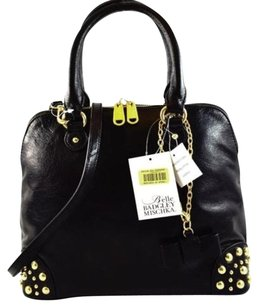 Badgley Mischka Belle Leather Satchel in Black