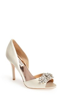 Badgley Mischka Badgley Mischka 'giana' Satin D'orsay Pump 6 1/2 Wedding Shoes
