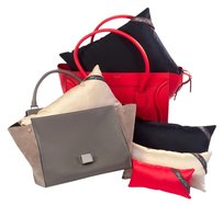 Bag-a-Vie Shaper Pillow Insert Fits Satchel in Red, Black, Riviera Blue or Champagne