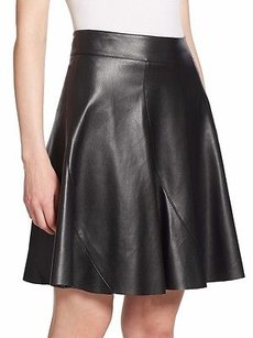 Bailey 44 Faux Leather Skirt Black
