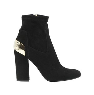 Baldan Suede Short Single Sole Ankle Eu Black / Gold Boots