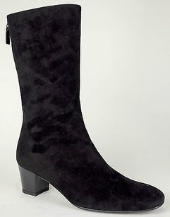 Balenciaga Suede Zip Up Black Boots