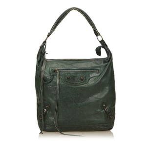 Balenciaga Green Leather Others Shoulder Bag