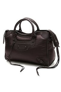 Balenciaga Nylon Classic City Satchel in Black
