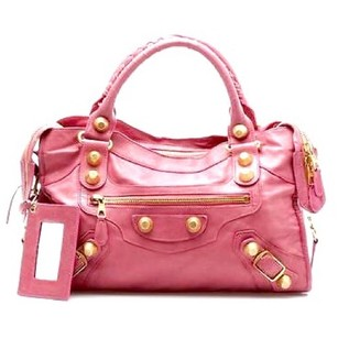 Balenciaga Satchel in Pink, Gold