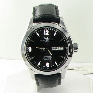 Ball Ball Nm1020c-l5j-bk Engineer Ii Ohio Day Date Black Dial Leather Watch