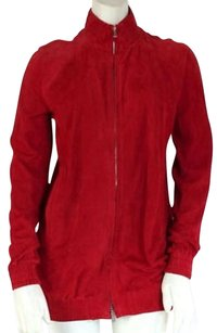 Bally Suede Full Zip Red Jacket