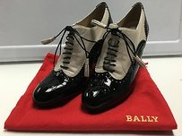 Bally Black Beige Leather Multi-Color Pumps