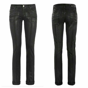 Balmain Motorcycle Skinny Jeans-Coated