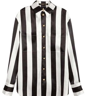 Balmain x H&M Button Down Shirt Black and white