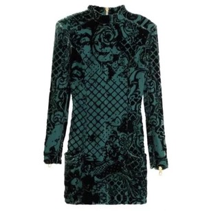 Balmain x H&M Velvet Flocked Dress
