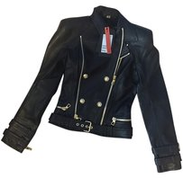 Balmain x H&M Leather Motorcycle Leather Jacket