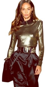 Balmain x H&M Paris Top Gold