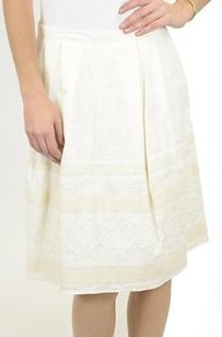 Banana Republic Thick Linen Skirt Ivories