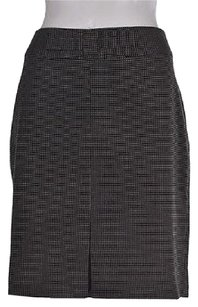 Banana Republic Womens Black A Line Polka Dot Career Skirt Multi-Color
